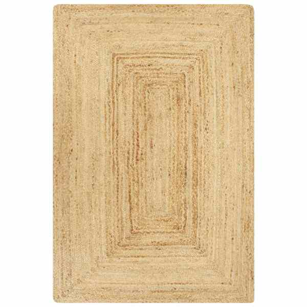 vidaXL Covor manual, natural, 120 x 180 cm, iută