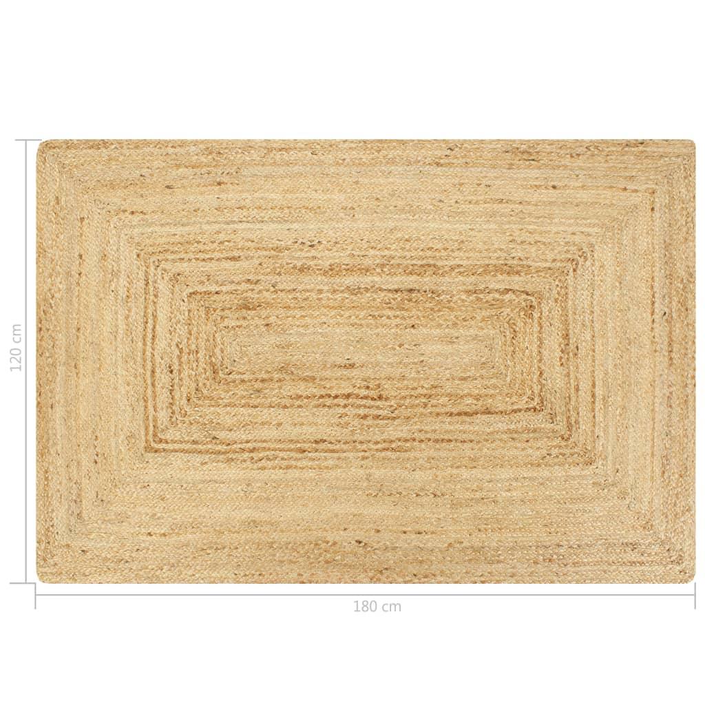 Covor manual, natural, 120 x 180 cm, iută