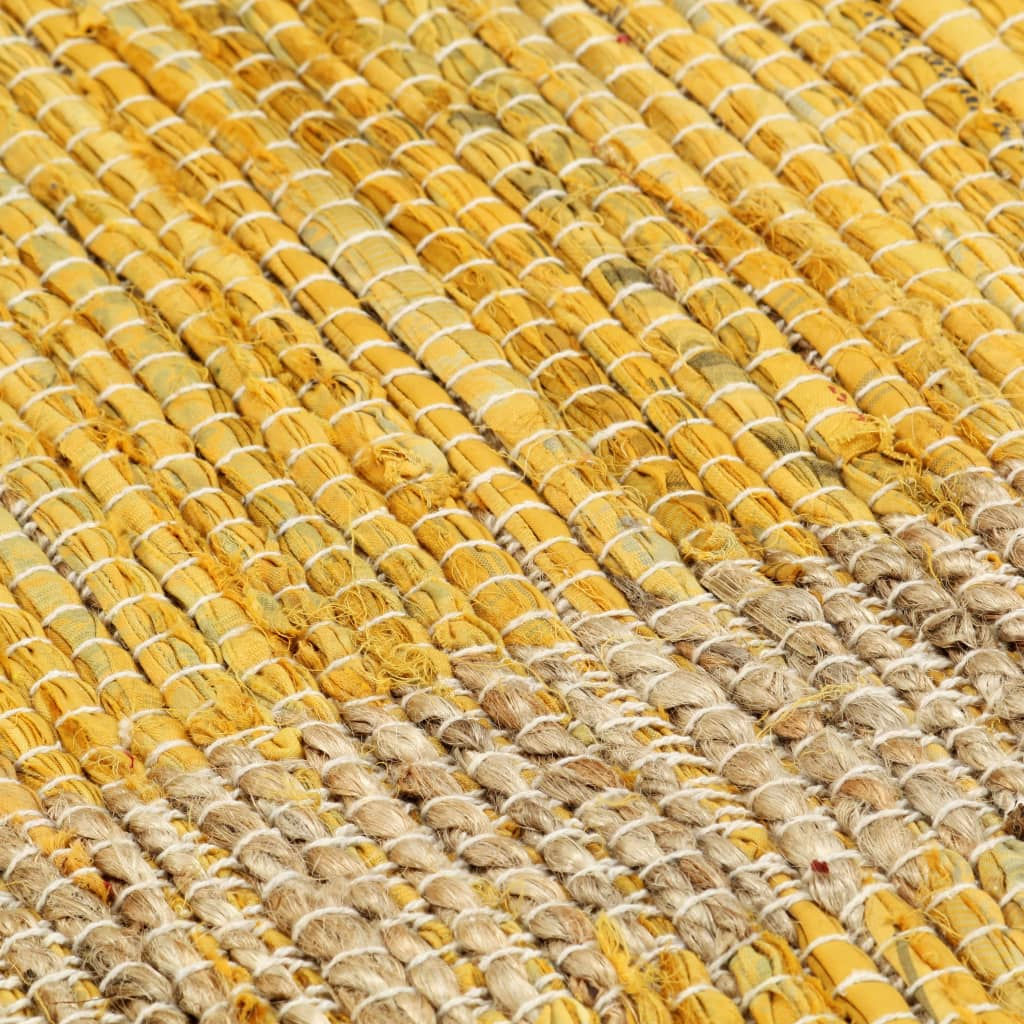Covor manual, galben, 120 x 180 cm, iută