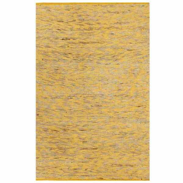vidaXL Covor manual, galben și natural, 160×230 cm, iută