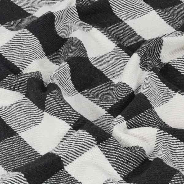 vidaXL Pătură decorativă, antracit, 160 x 210 cm, bumbac, carouri
