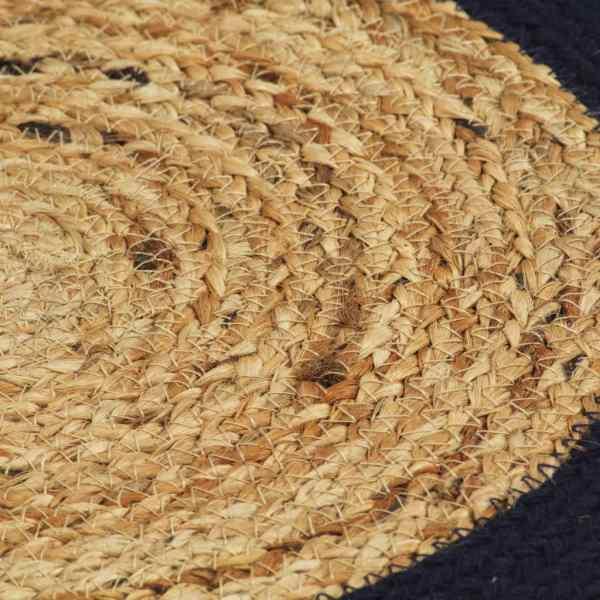 vidaXL Naproane, 4 buc., natural și bleumarin, 38 cm, iută și bumbac