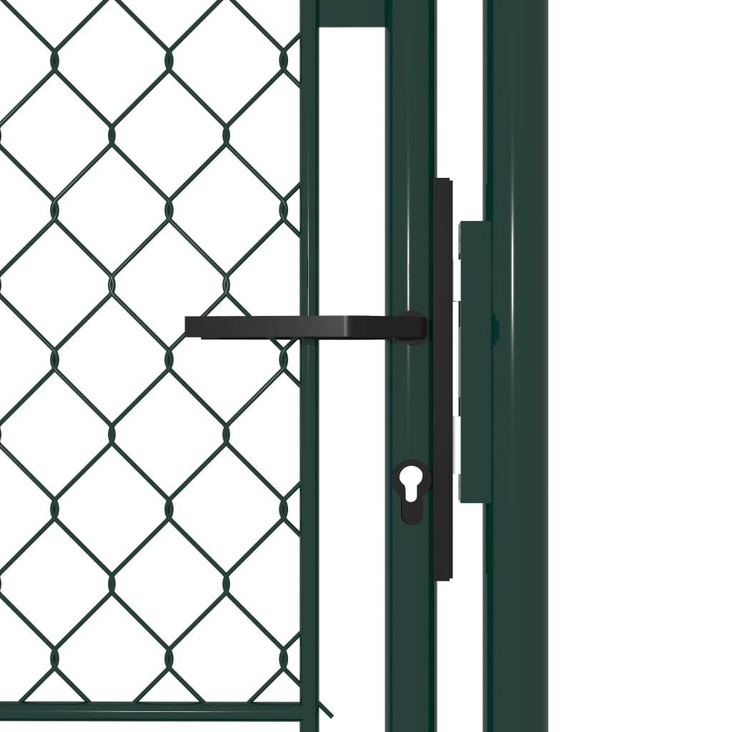 Poartă de gard, verde, 100 x 175 cm, oțel