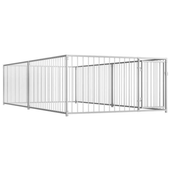 vidaXL Padoc de câini pentru exterior, 200 x 400 x 100 cm