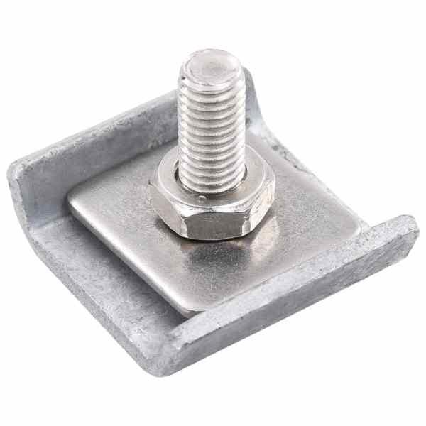 Conector grilaj din plasă, argintiu, 25 seturi