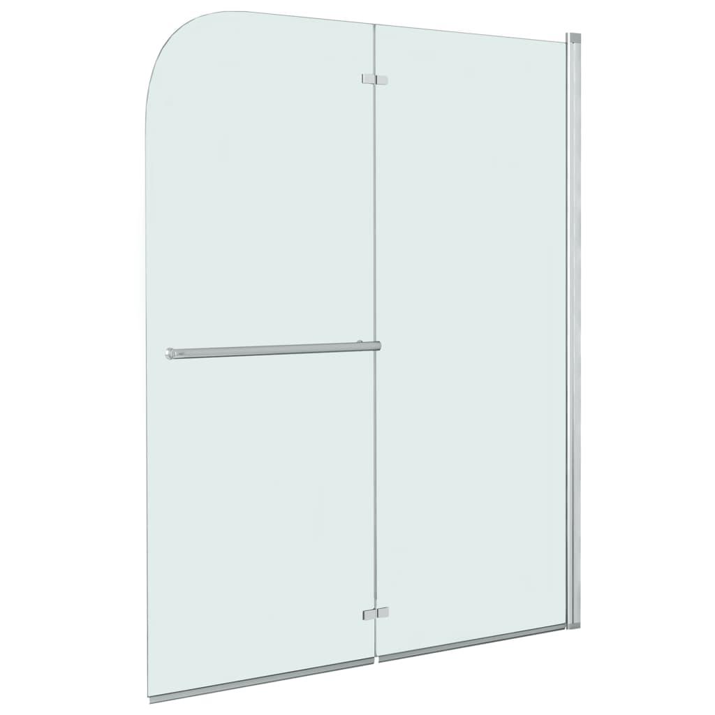 vidaXL Cabină de duș pliabilă, 2 panouri, 95 x 140 cm, ESG