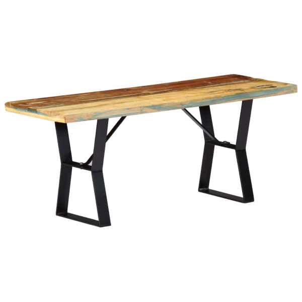 vidaXL Bancă, 110 cm, lemn masiv reciclat
