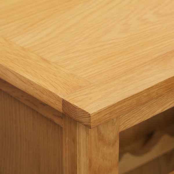 vidaXL Dulap de vinuri, 56 x 32 x 110 cm, lemn masiv de stejar