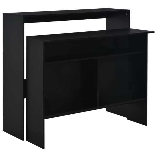 vidaXL Masă de bar cu 2 blaturi, negru, 130x40x120 cm