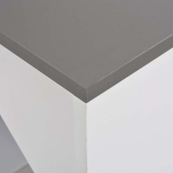 Masă de bar cu dulap, alb, 115 x 59 x 200 cm