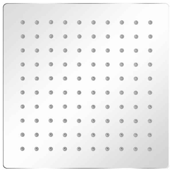Cap de duș tip ploaie, 2 buc., 20 x 20 cm, oțel inoxidabil