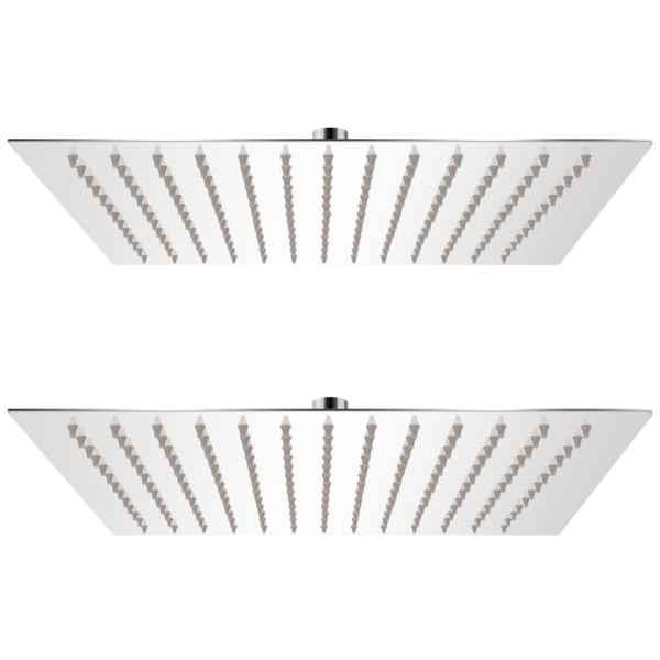 vidaXL Cap de duș tip ploaie, 2 buc., 25 x 25 cm, oțel inoxidabil