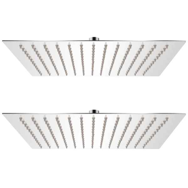 vidaXL Cap de duș tip ploaie, 2 buc., 30×30 cm, oțel inoxidabil