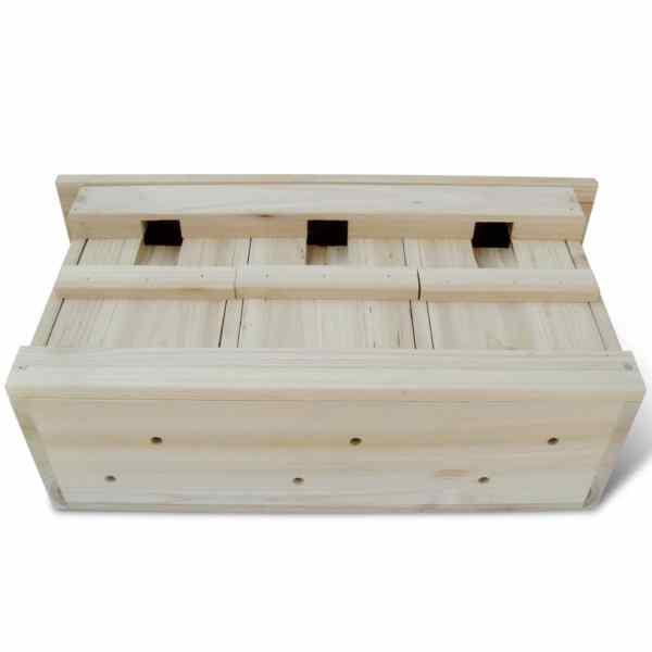 vidaXL Case de vrăbii, 2 buc., 44 x 15,5 x 21,5 cm, lemn