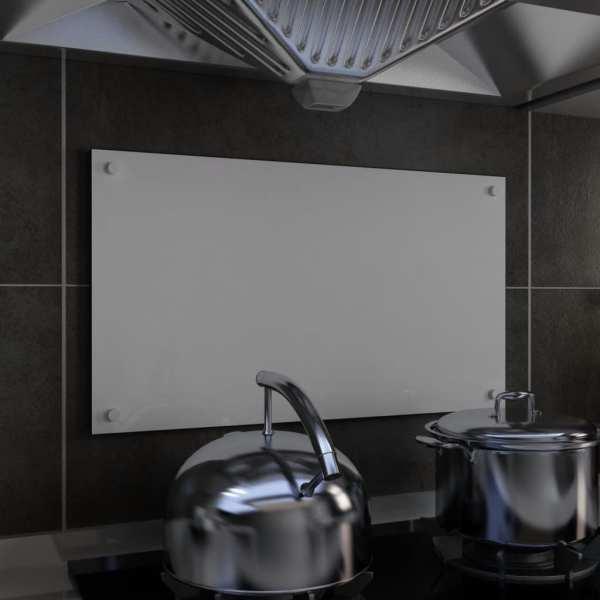 vidaXL Panou antistropi bucătărie, alb, 70×40 cm, sticlă securizată