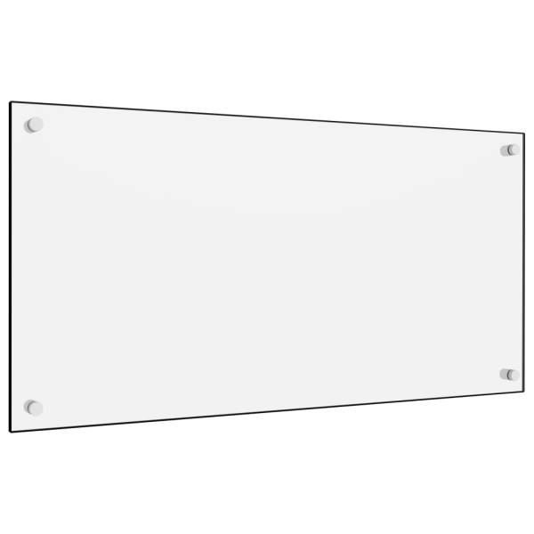 Panou antistropi bucătărie, alb, 80×40 cm, sticlă securizată