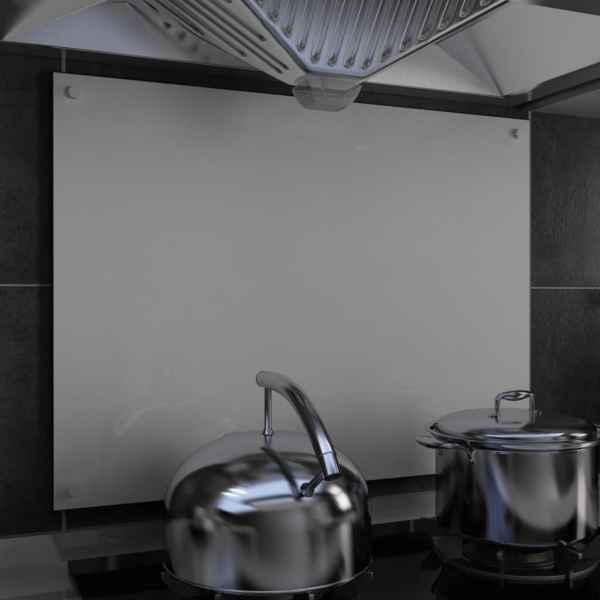 vidaXL Panou antistropi bucătărie, alb, 80×60 cm, sticlă securizată