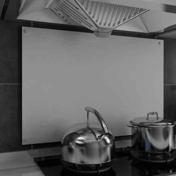 vidaXL Panou antistropi bucătărie, alb, 90×60 cm, sticlă securizată