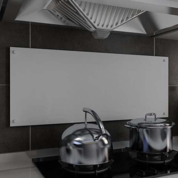 vidaXL Panou antistropi bucătărie, alb, 100×40 cm, sticlă securizată