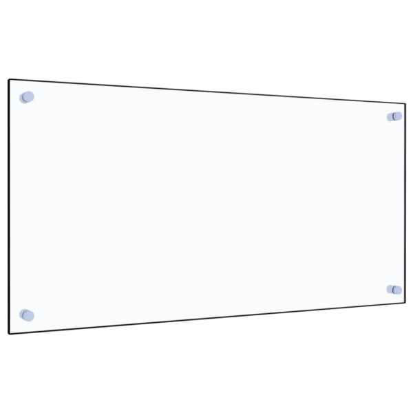 Panou antistropi bucătărie transparent 80×40 cm sticlă securiz.