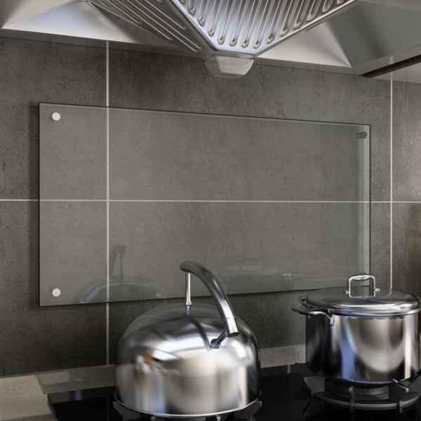 vidaXL Panou antistropi bucătărie transparent 80×40 cm sticlă securiz.