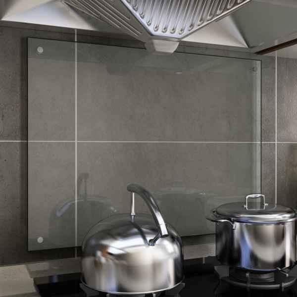 vidaXL Panou antistropi bucătărie transparent 80×60 cm sticlă securiz.