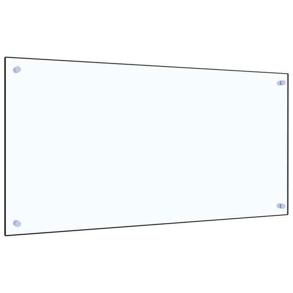 Panou antistropi bucătărie transparent 100x50cm sticlă securiz.