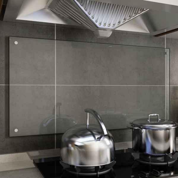 vidaXL Panou antistropi bucătărie transparent 100x50cm sticlă securiz.