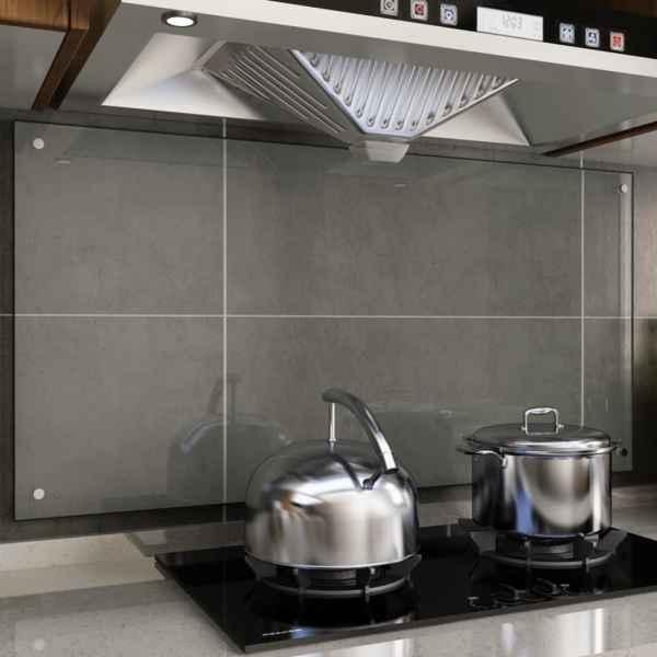 vidaXL Panou antistropi bucătărie transparent 120x60cm sticlă securiz.