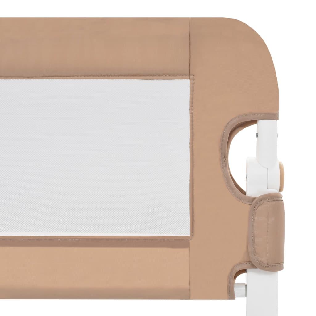 Balustradă protecție pat copii, gri taupe, 150×42 cm, poliester