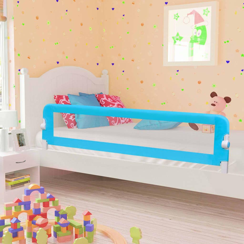 vidaXL Balustradă de protecție pat copii albastru 180×42 cm poliester