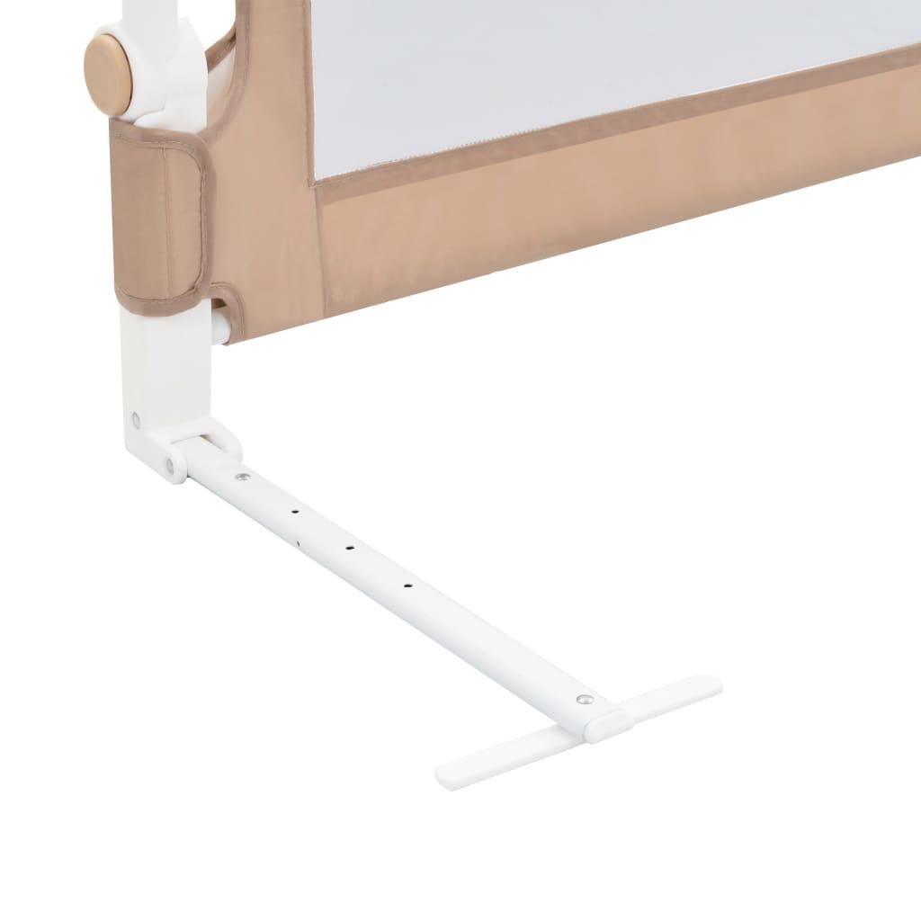 Balustradă protecție pat copii, gri taupe, 120×42 cm, poliester
