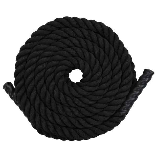 vidaXL Frânghie de antrenament, negru, 12 m, poliester