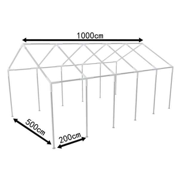 Cadru din oțel pentru cort de petreceri, 10 x 5 m