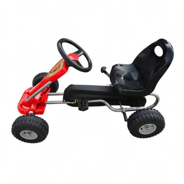 Kart cu pedale Go Kart, roșu