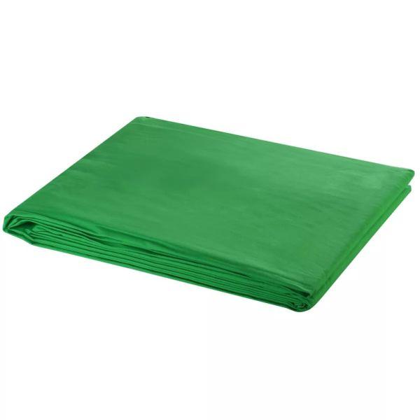 vidaXL Fundal verde, 600 x 300 cm, Chroma Key