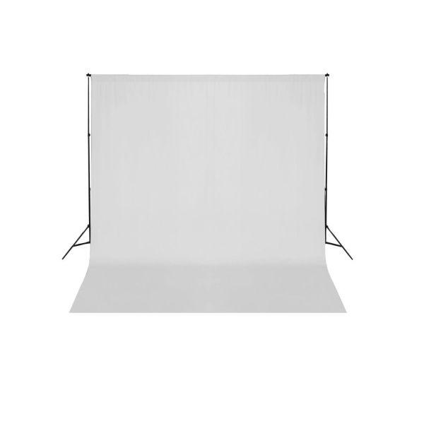 vidaXL Sistem de suport fundal, 600 x 300 cm, alb