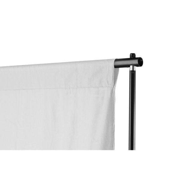 vidaXL Sistem de suport fundal telescopic + fundal alb, 3 x 5 m