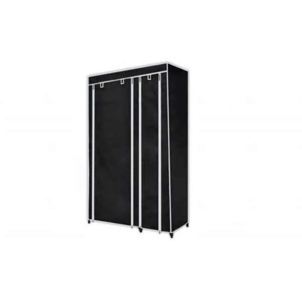vidaXL Dulapuri de haine, 2 buc., material textil, negru