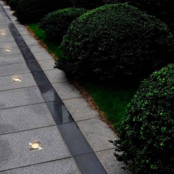 vidaXL Lămpi de sol pentru exterior, 12 buc., pătrat (4×40394)