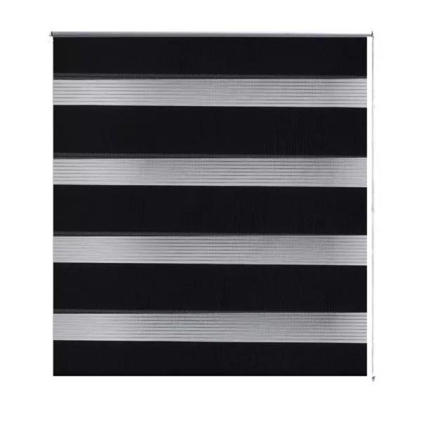 Jaluzea model zebră 80 x 150 cm, negru