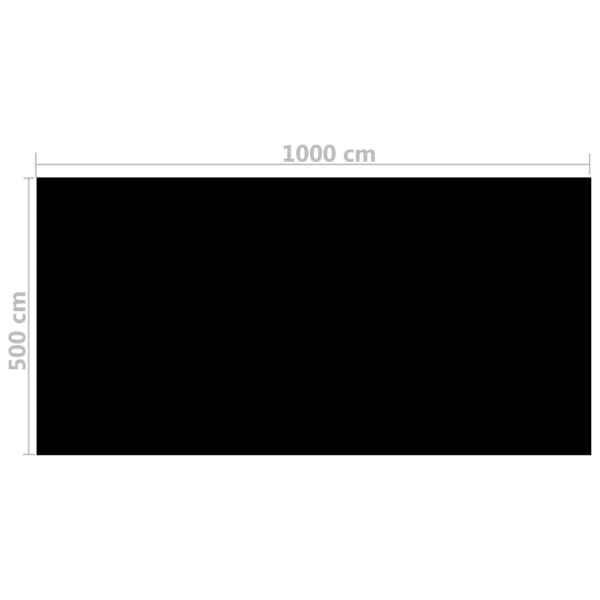 Folie solară pătrată pentru încălzirea apei din piscină 10 x 5m, Negru