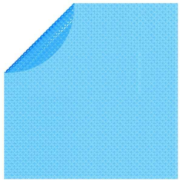 Folie solară plutitoare piscină, rotundă, PE, 455 cm, albastru