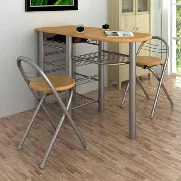 Set mobilier bar din lemn