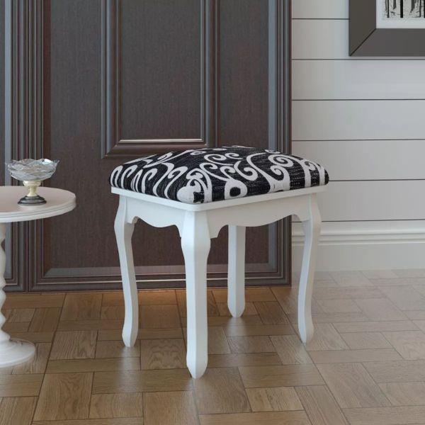 vidaXL Taburet pentru dressing, negru, material textil