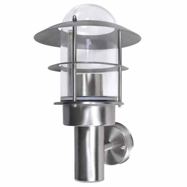 Lampă de perete din oțel inoxidabil fără senzor de mișcare