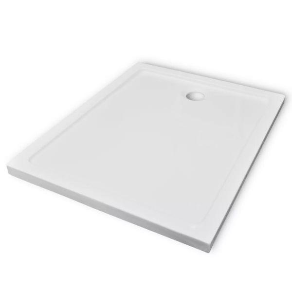 Cădiță de duș dreptunghiulară din ABS, 80 x 100 cm