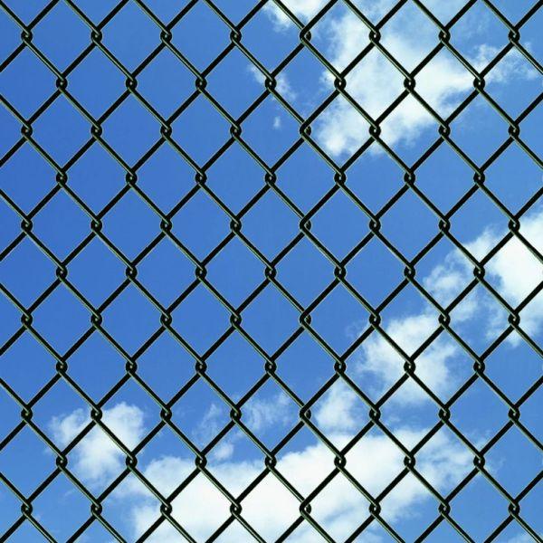 Gard de legătură din plasă, verde, 0,8 x 15 m, oțel