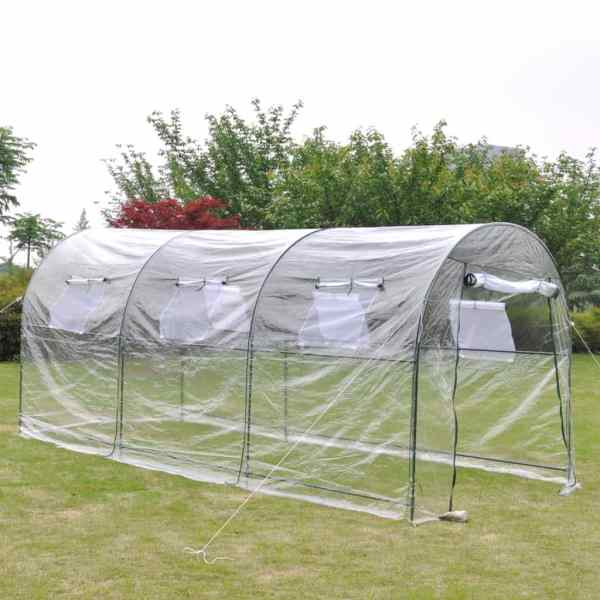 vidaXL Seră mare portabilă de exterior, pentru grădinărit