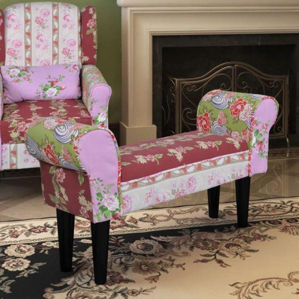 Bancă patchwork stil floral